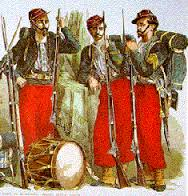 Nearly 100 Zouave units served in the Civil War, over 70 for the Union and about 25 for the Confederacy. A crossdressing episode involving one of latter earned it a special place in history.